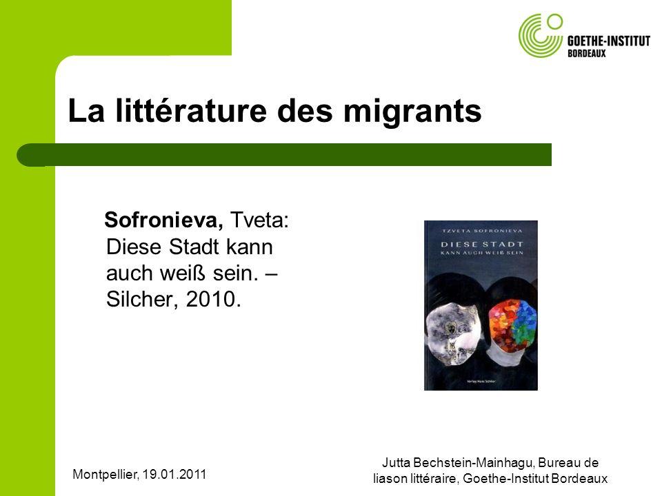 La littérature des migrants
