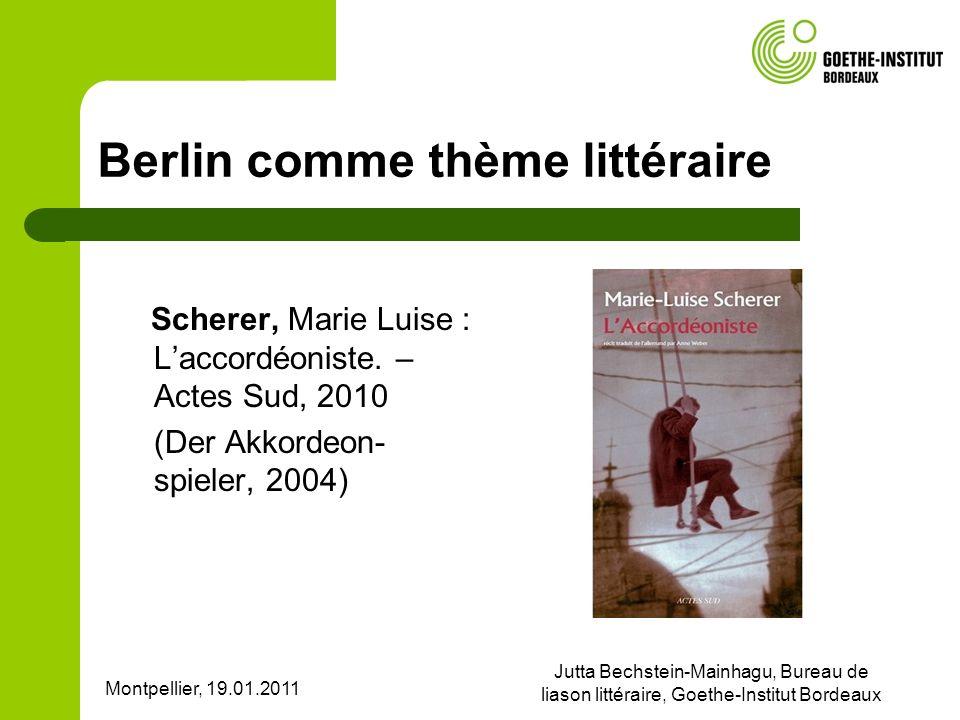 Berlin comme thème littéraire