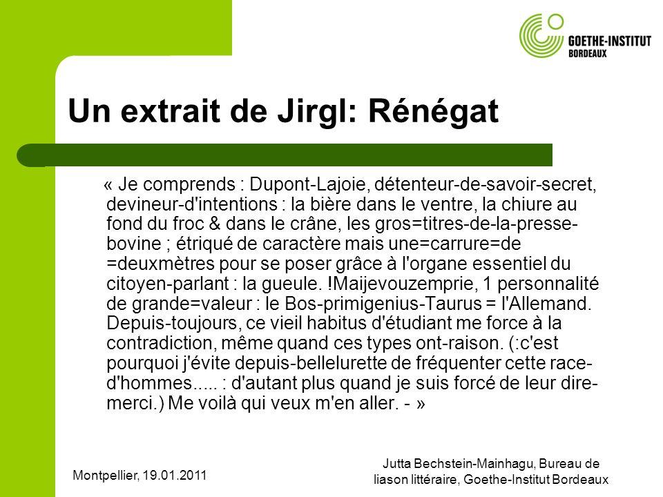 Un extrait de Jirgl: Rénégat