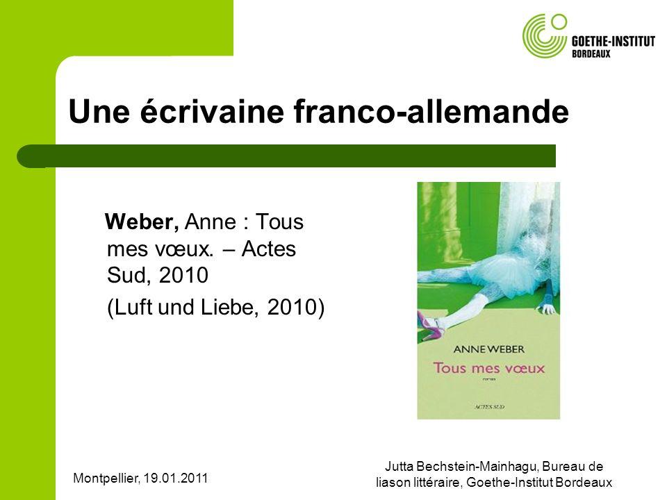 Une écrivaine franco-allemande