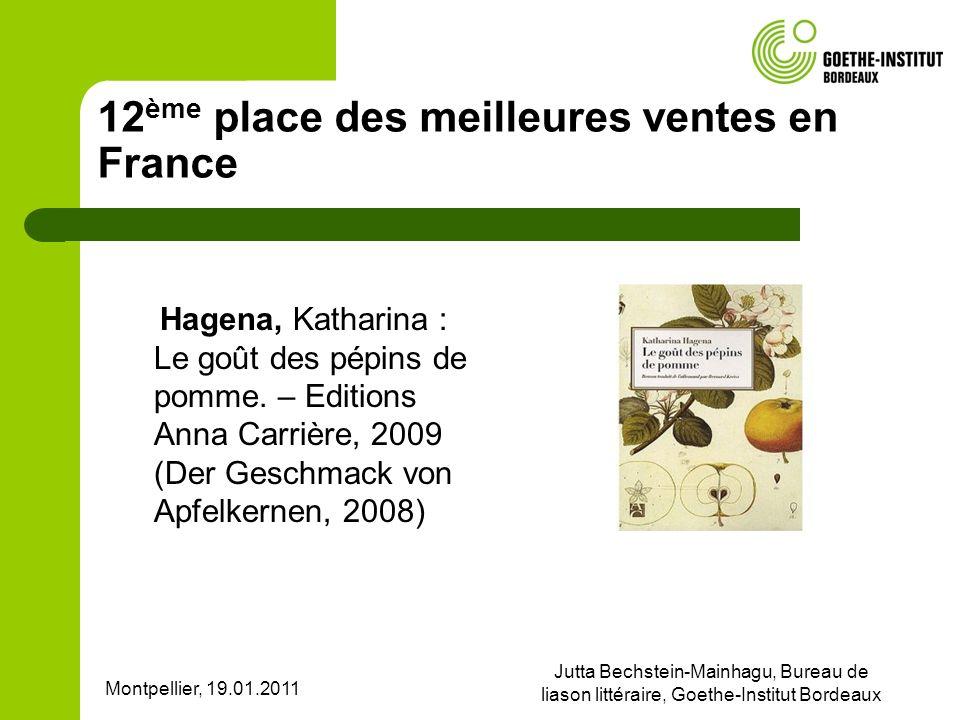 12ème place des meilleures ventes en France