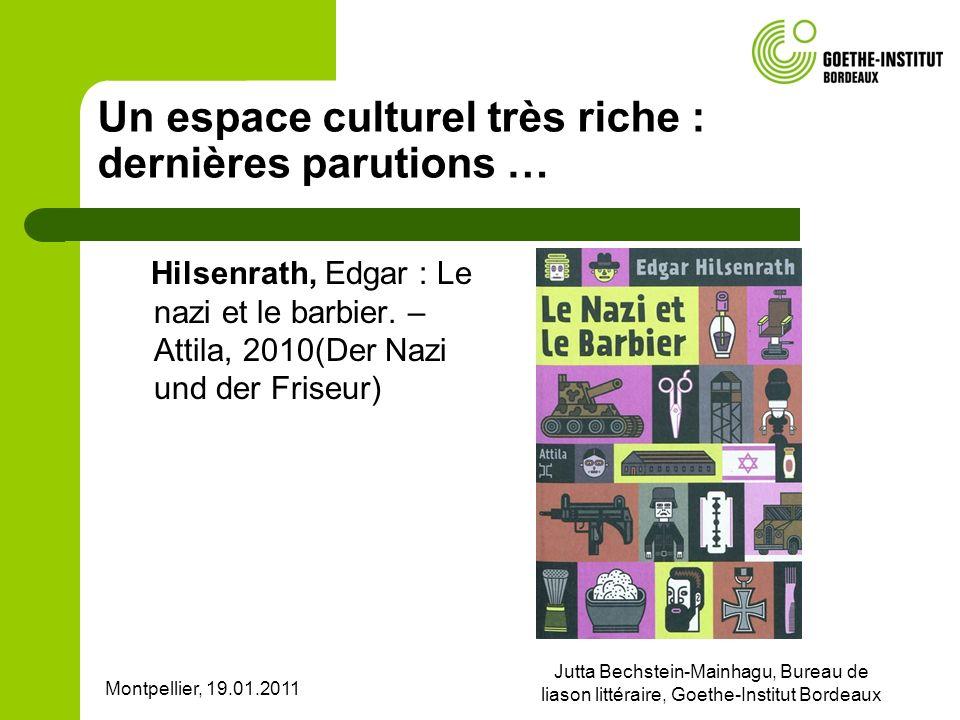 Un espace culturel très riche : dernières parutions …