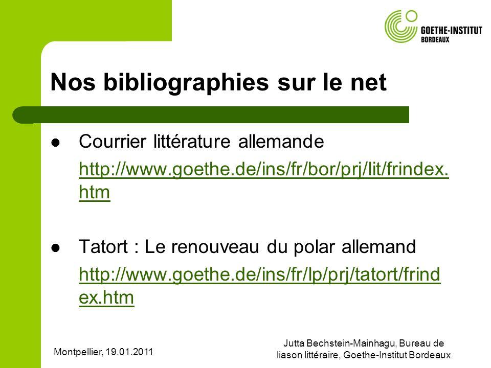 Nos bibliographies sur le net