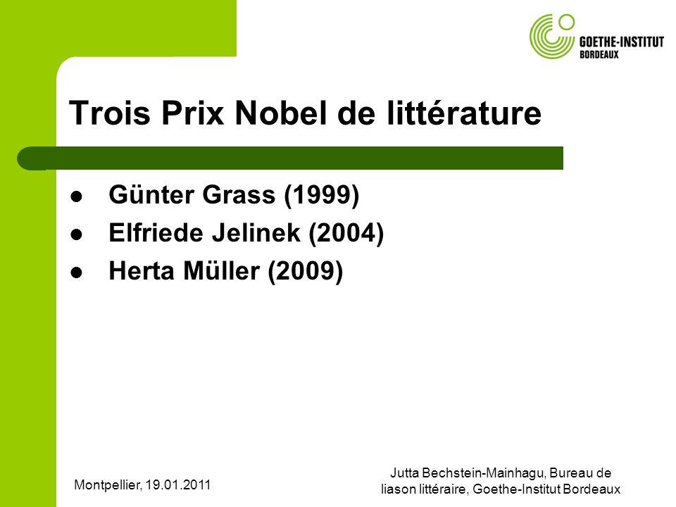 Trois Prix Nobel de littérature