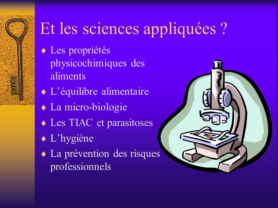 Et les sciences appliquées