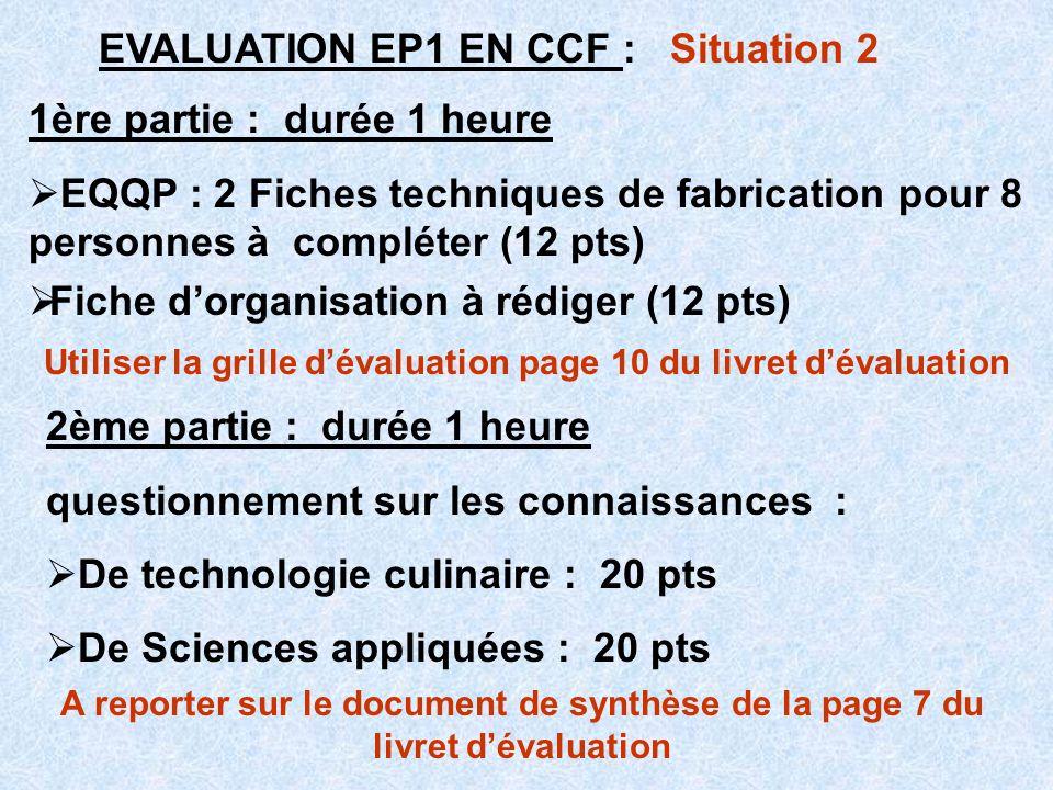 Utiliser la grille d'évaluation page 10 du livret d'évaluation