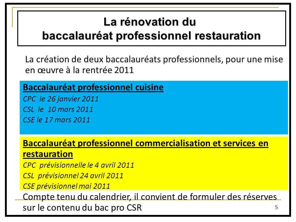 baccalauréat professionnel restauration