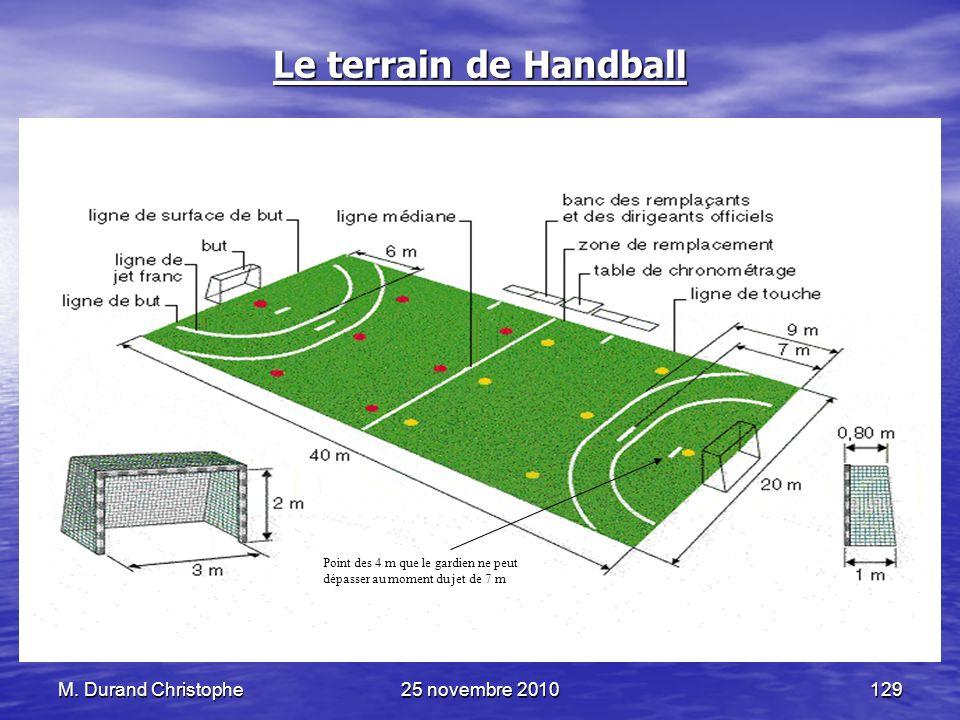 Le terrain de Handball M. Durand Christophe 25 novembre 2010