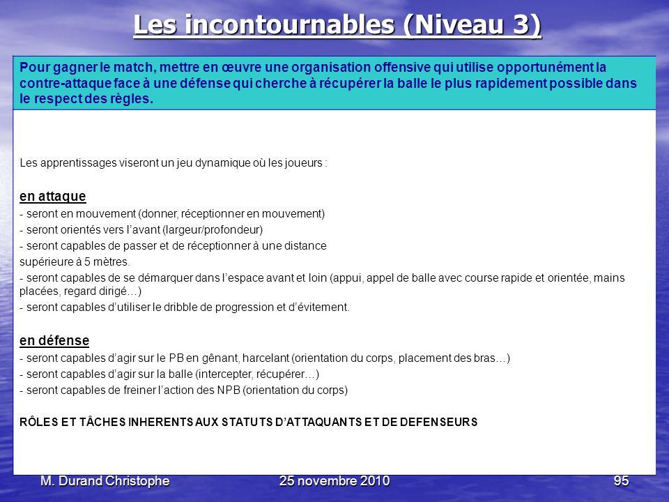 Les incontournables (Niveau 3)