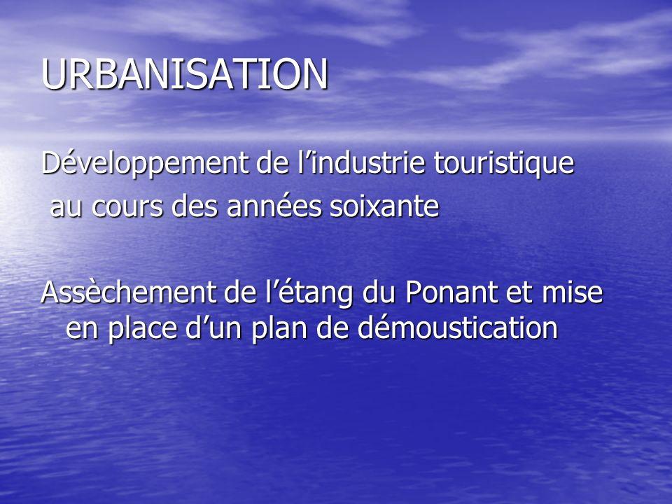 URBANISATION Développement de l'industrie touristique