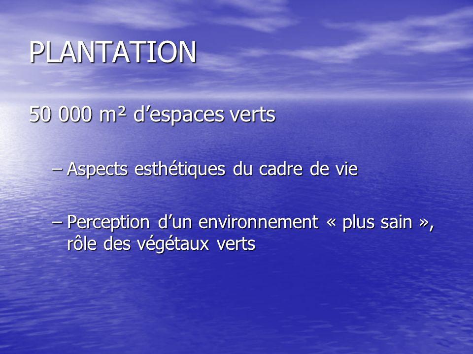 PLANTATION 50 000 m² d'espaces verts