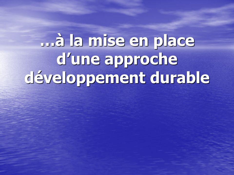 …à la mise en place d'une approche développement durable