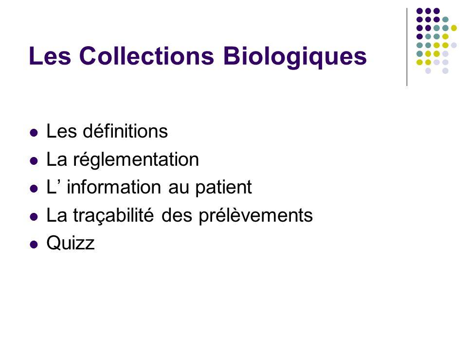 Les Collections Biologiques