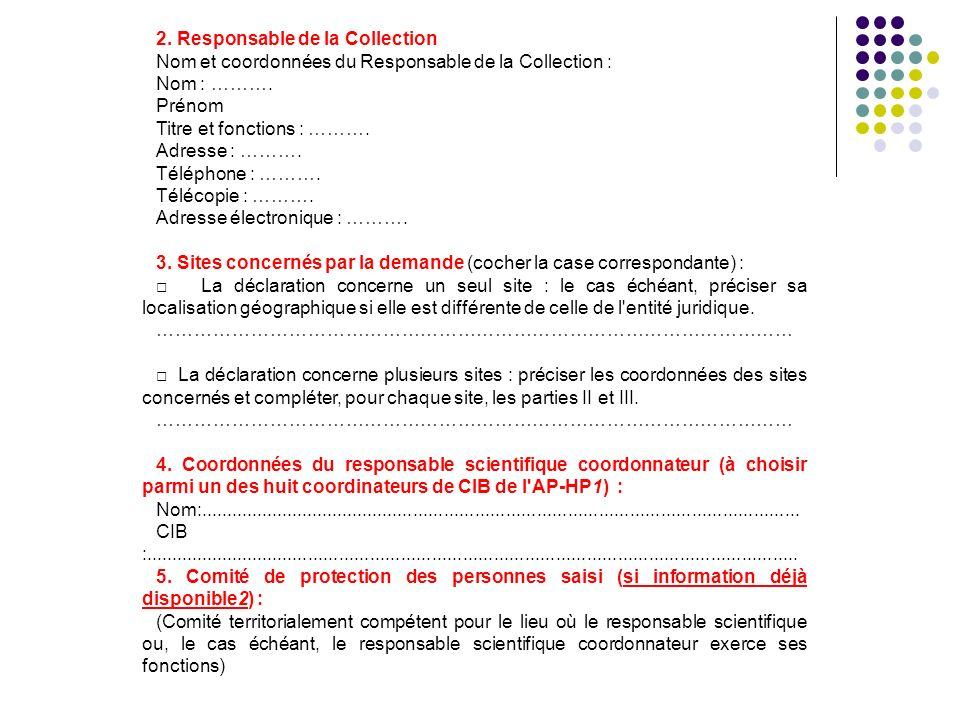 2. Responsable de la Collection
