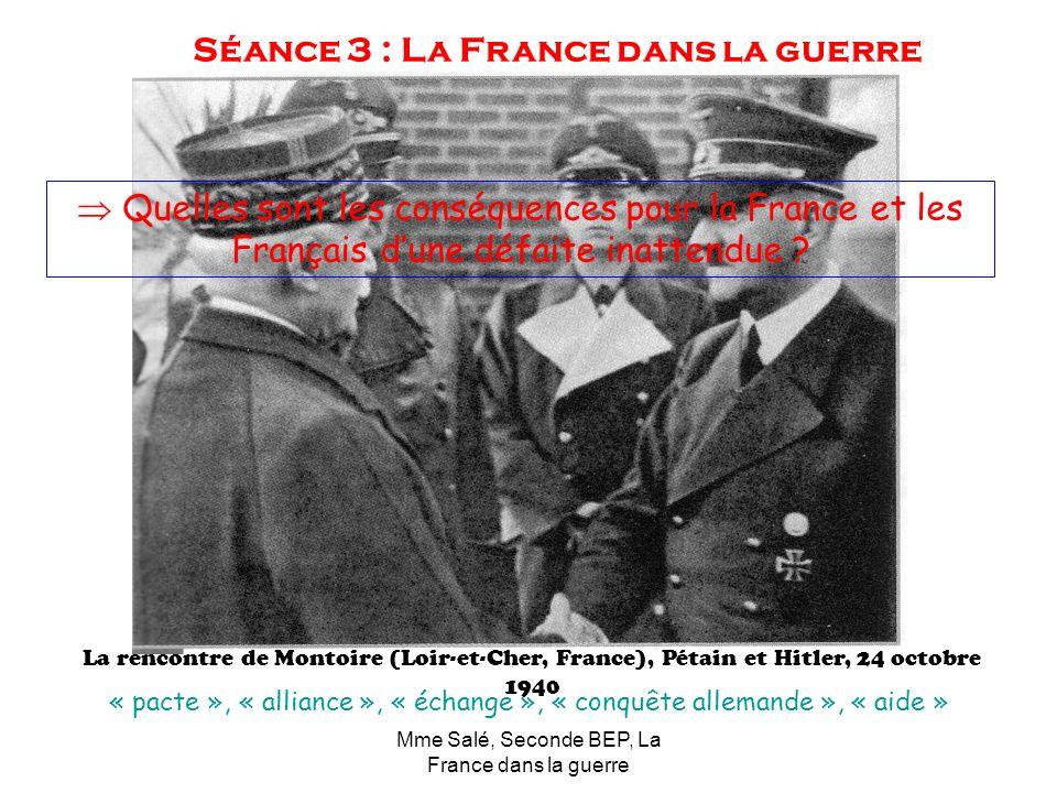 Séance 3 : La France dans la guerre