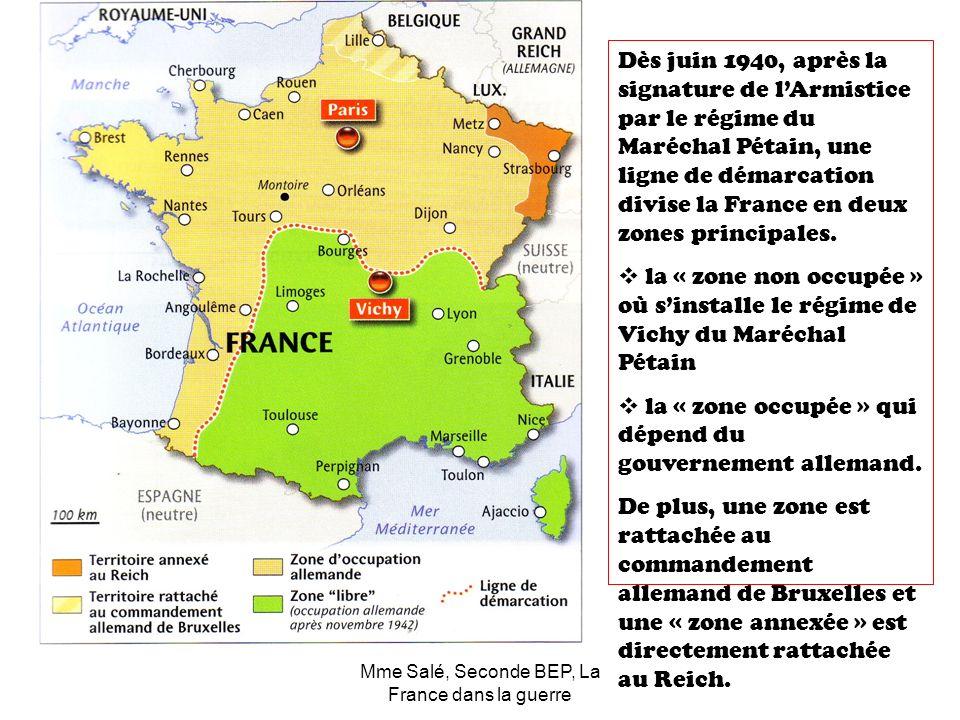 Mme Salé, Seconde BEP, La France dans la guerre