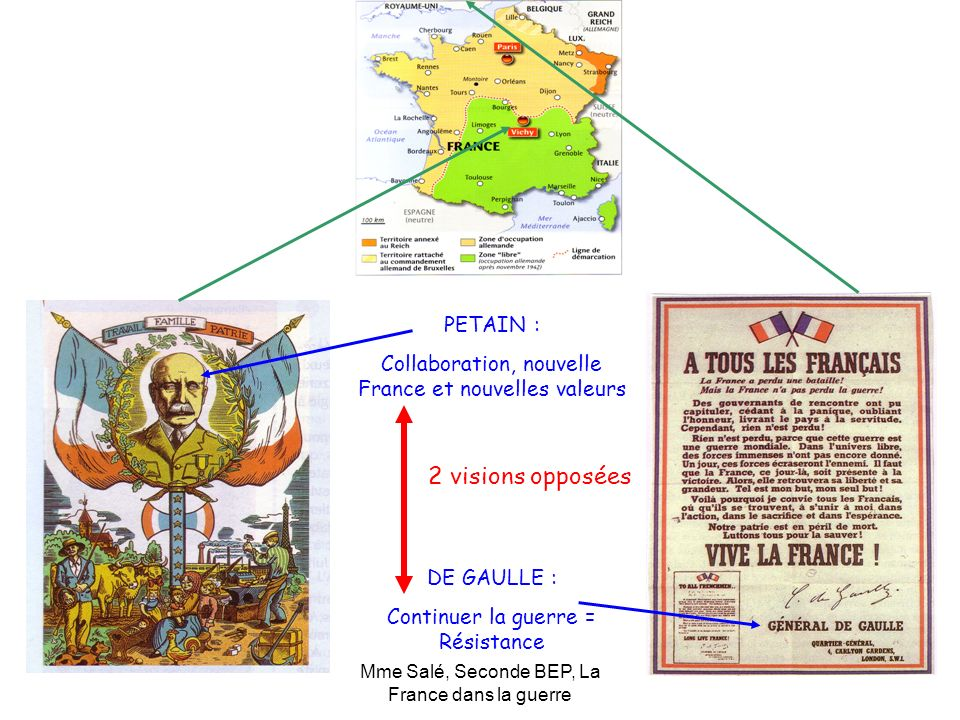 2 visions opposées PETAIN :