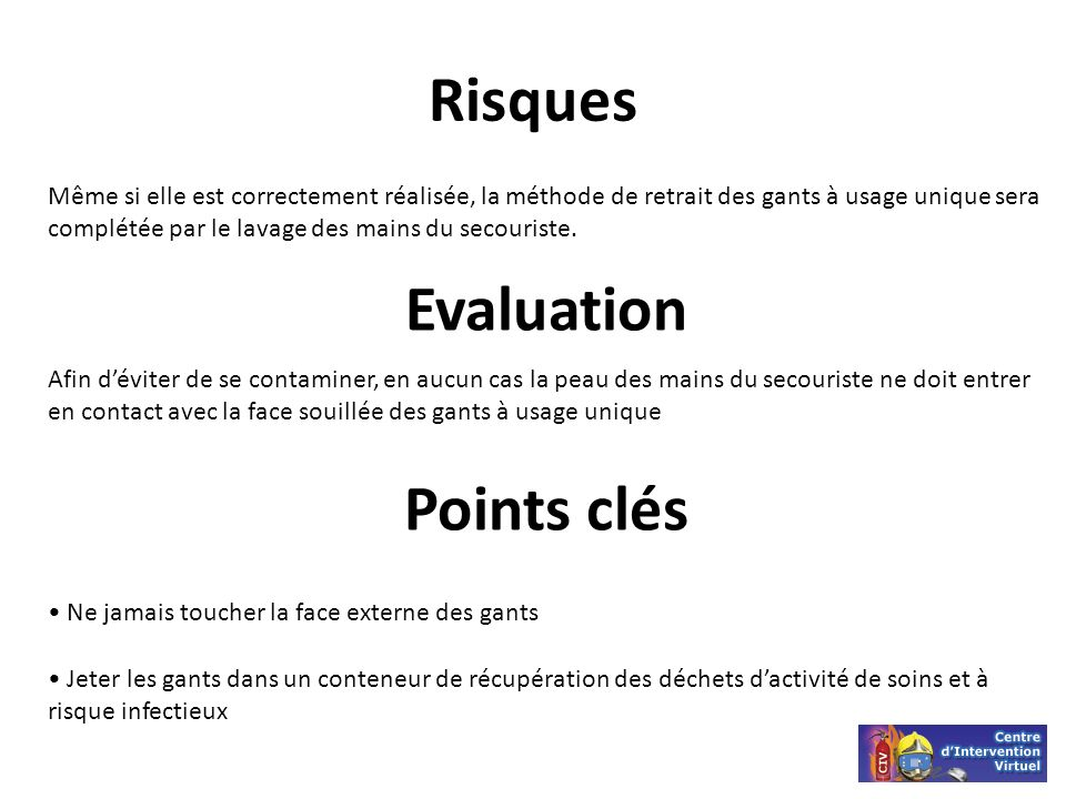 Risques Evaluation Points clés