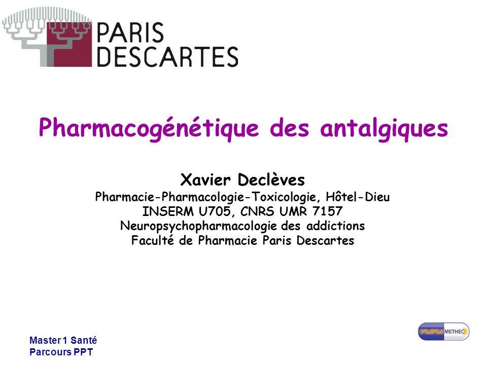 Pharmacogénétique des antalgiques