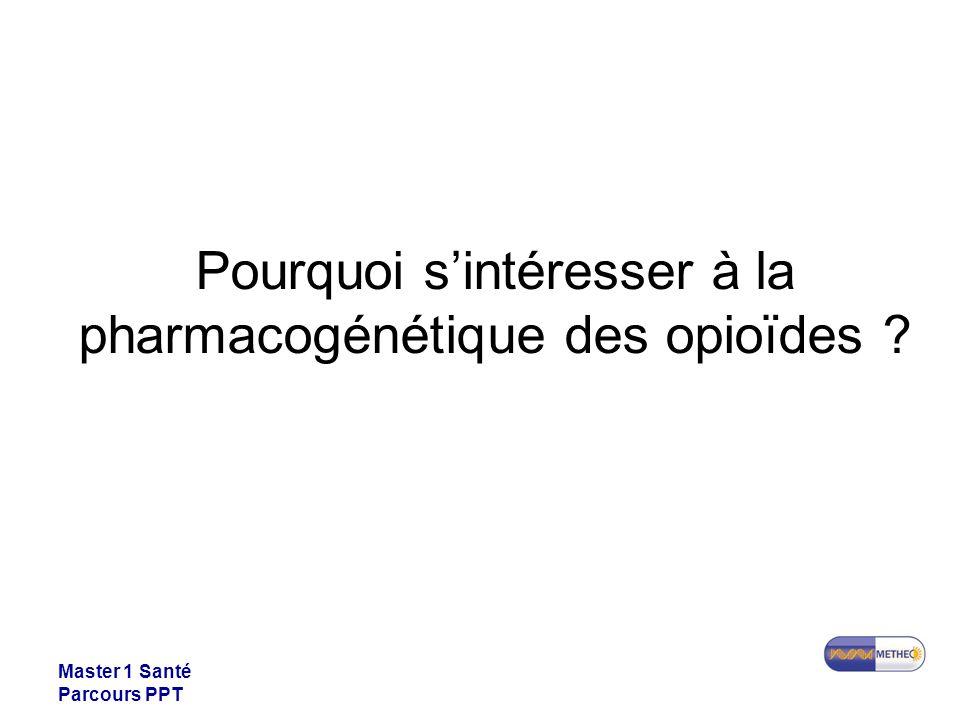 Pourquoi s'intéresser à la pharmacogénétique des opioïdes