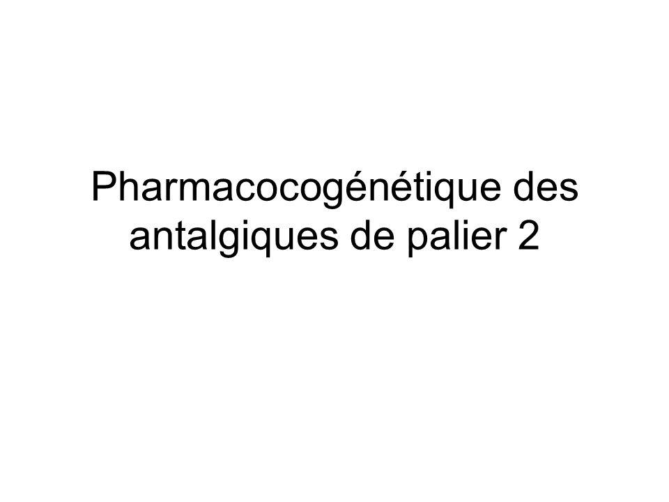 Pharmacocogénétique des antalgiques de palier 2