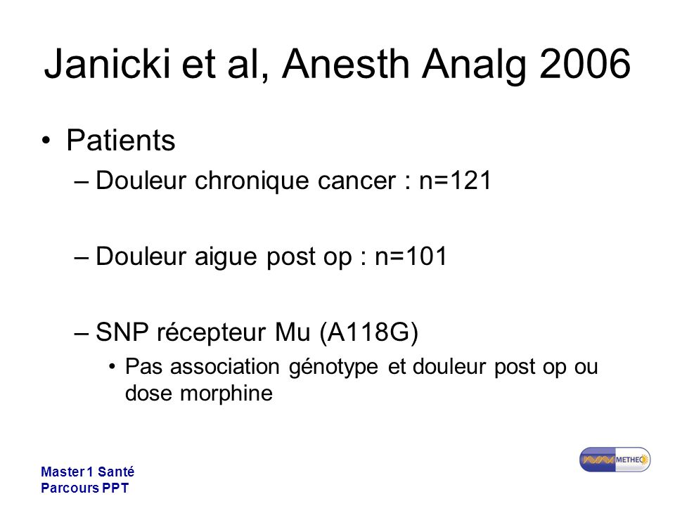 Janicki et al, Anesth Analg 2006