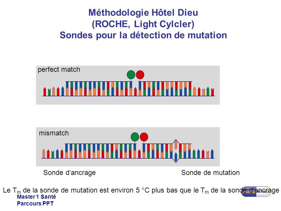 Méthodologie Hôtel Dieu (ROCHE, Light Cylcler) Sondes pour la détection de mutation