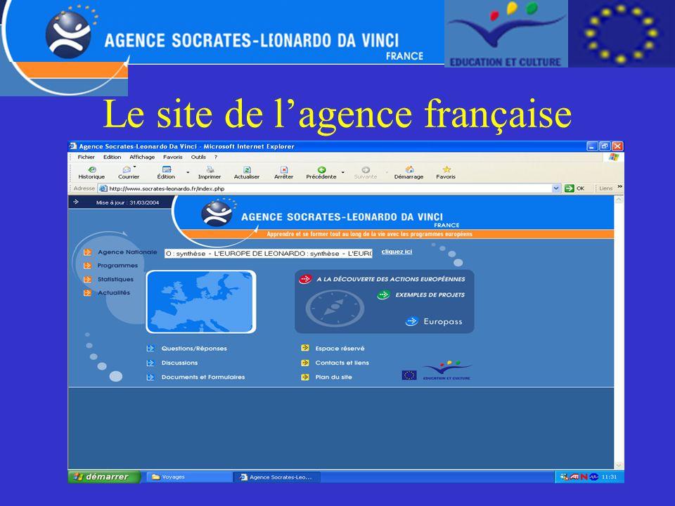 Le site de l'agence française