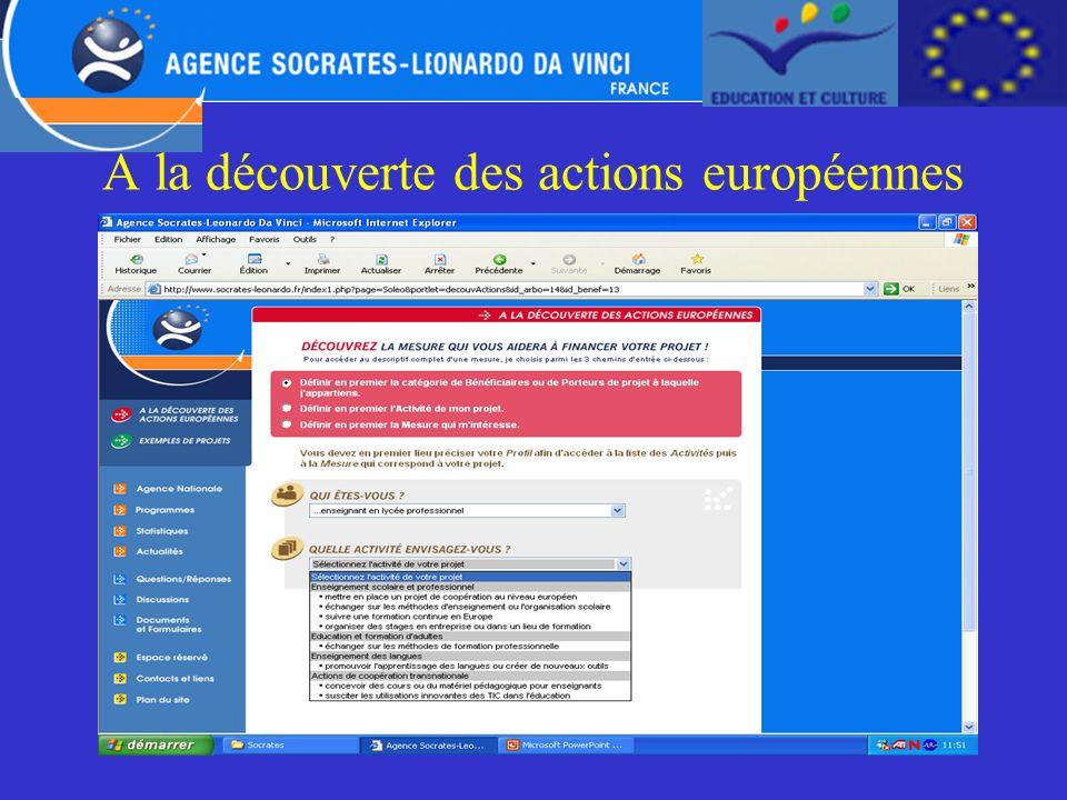 A la découverte des actions européennes