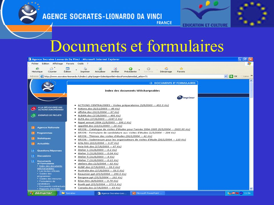 Documents et formulaires
