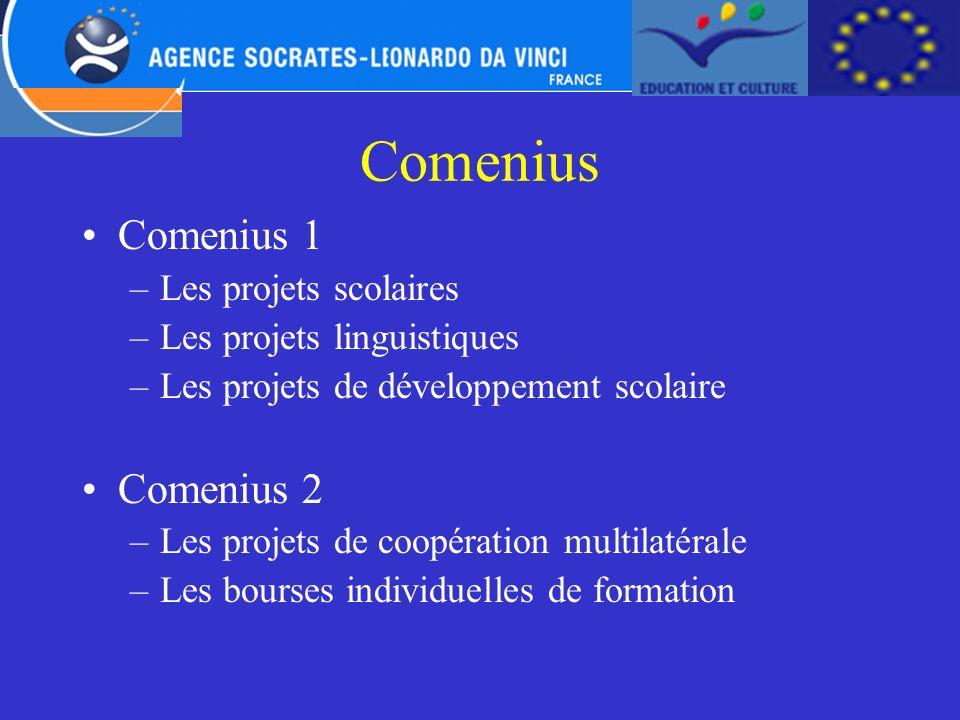 Comenius Comenius 1 Comenius 2 Les projets scolaires