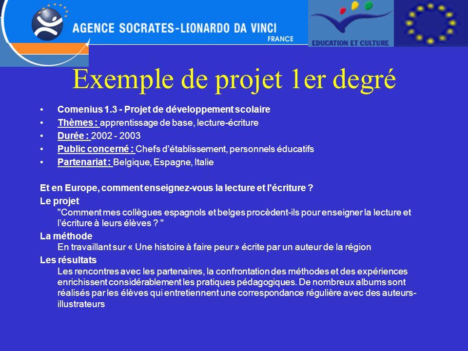 Exemple de projet 1er degré