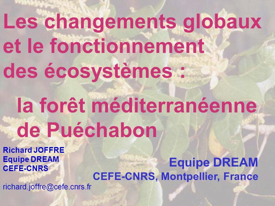 Les changements globaux et le fonctionnement des écosystèmes :