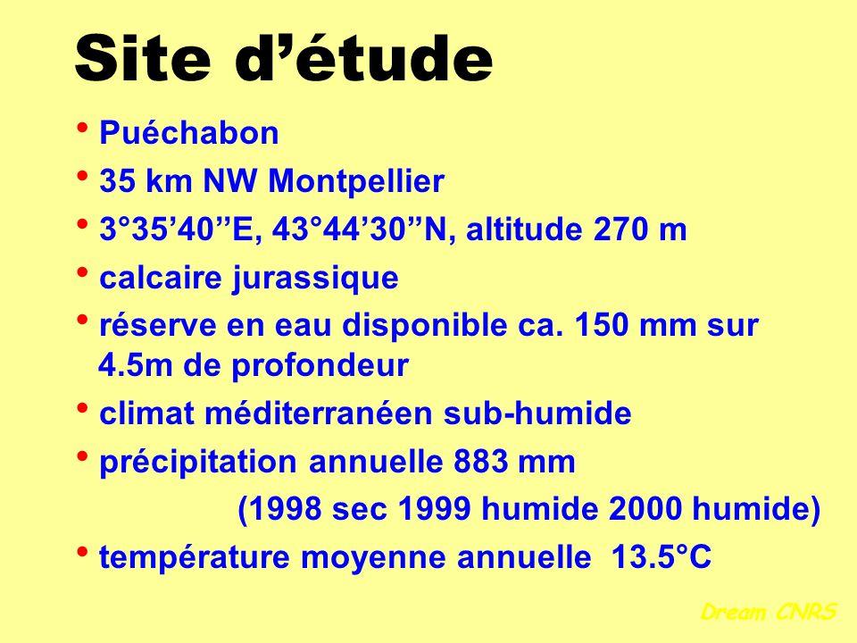 réserve en eau disponible ca. 150 mm sur 4.5m de profondeur