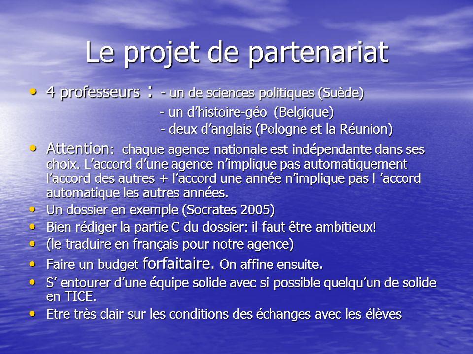 Le projet de partenariat