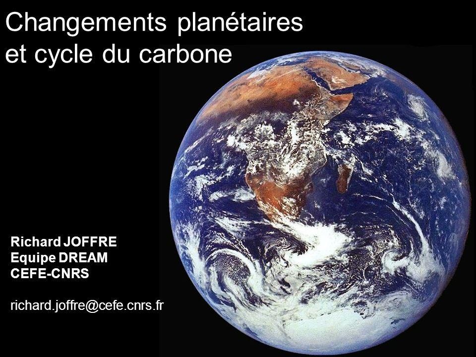 Changements planétaires et cycle du carbone