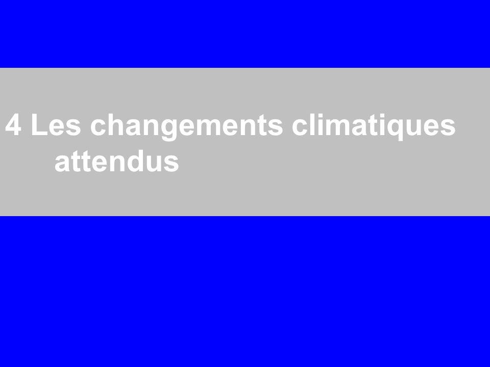 4 Les changements climatiques