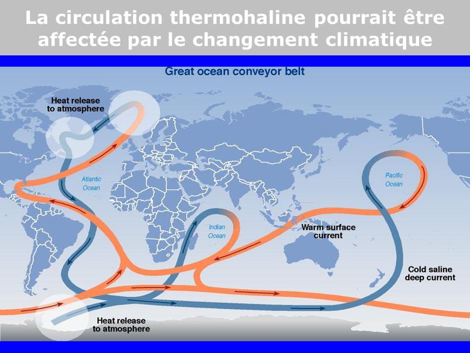 La circulation thermohaline pourrait être affectée par le changement climatique
