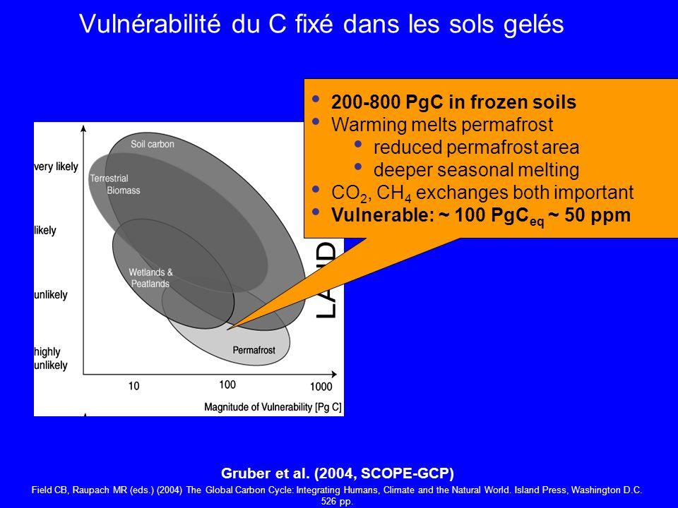 Vulnérabilité du C fixé dans les sols gelés