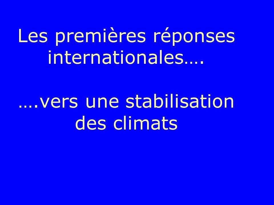 Les premières réponses internationales…. …