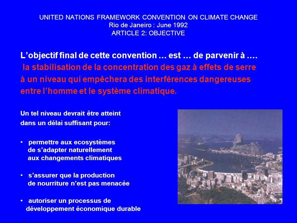 L'objectif final de cette convention … est … de parvenir à .…