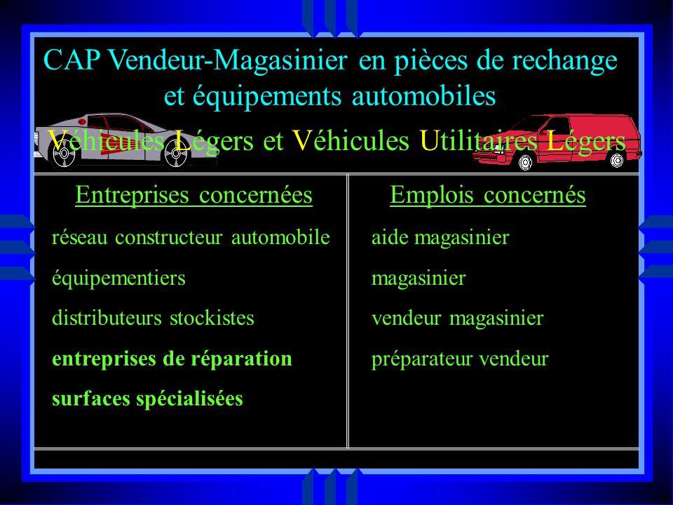 CAP Vendeur-Magasinier en pièces de rechange