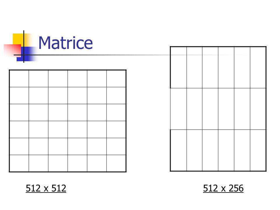 Matrice 512 x 512 512 x 256