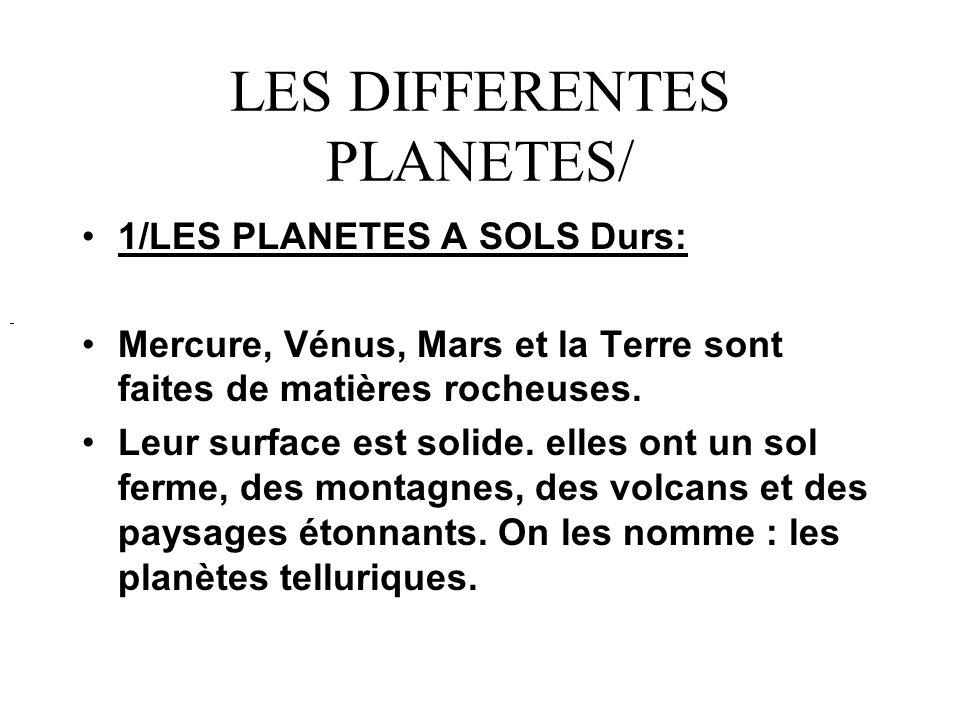 LES DIFFERENTES PLANETES/