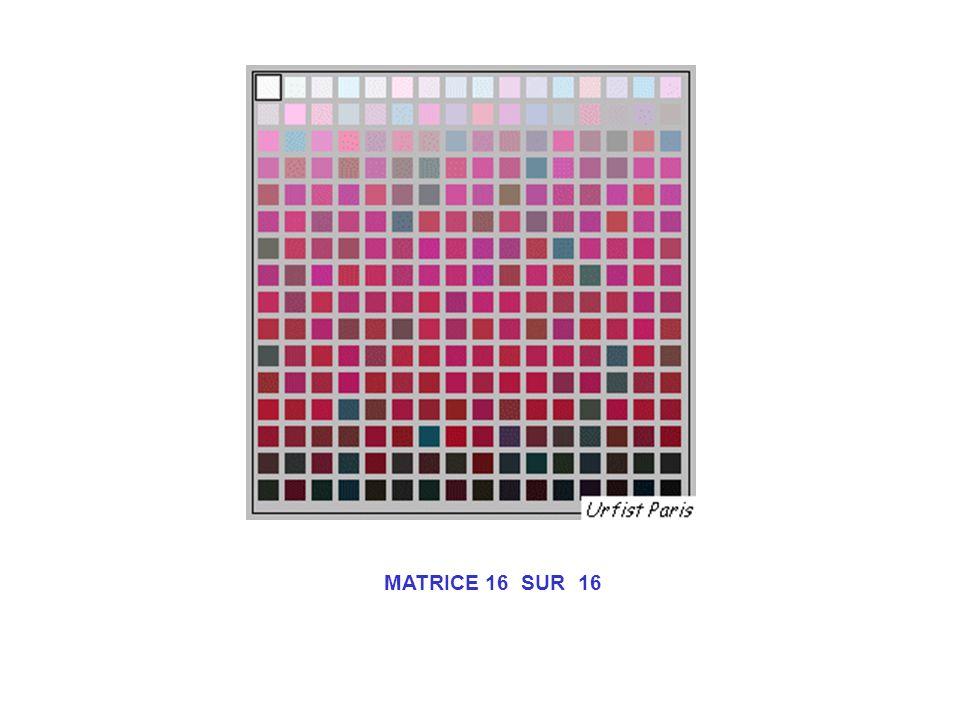 MATRICE 16 SUR 16