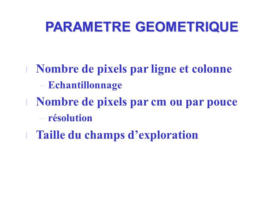 PARAMETRE GEOMETRIQUE