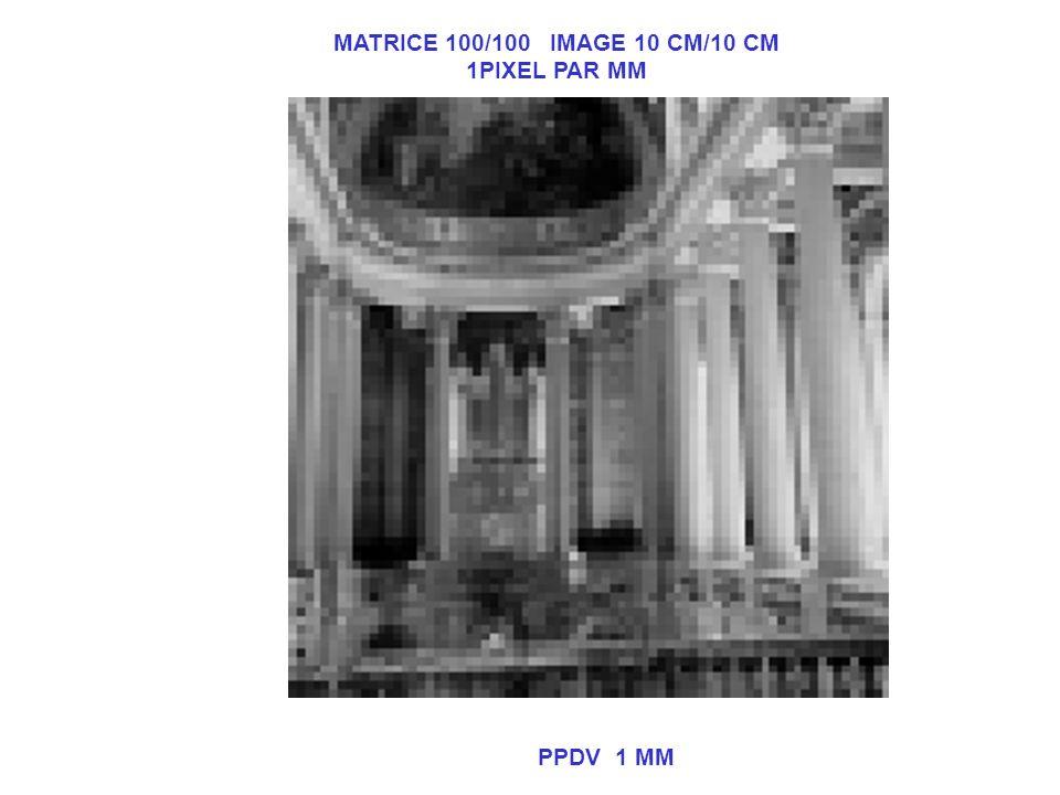 MATRICE 100/100 IMAGE 10 CM/10 CM 1PIXEL PAR MM PPDV 1 MM