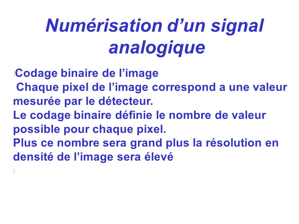 Numérisation d'un signal