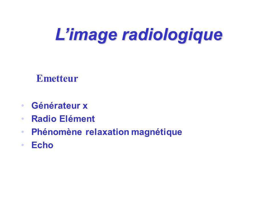 L'image radiologique Emetteur Générateur x Radio Elément