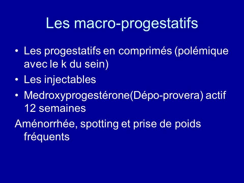 Les macro-progestatifs